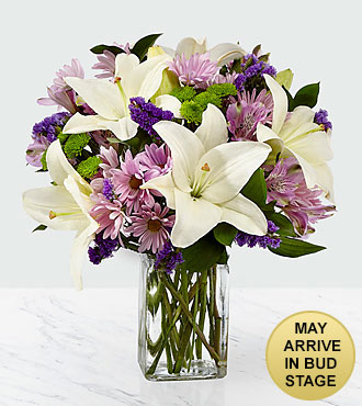 Lavender Fields Mixed Flower Bouquet Vase Included