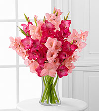 Pinking of You Gladiolus Bouquet - 10 Stems - VASE INCLUDED
