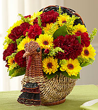 Turkey Time Harvest Flower Basket
