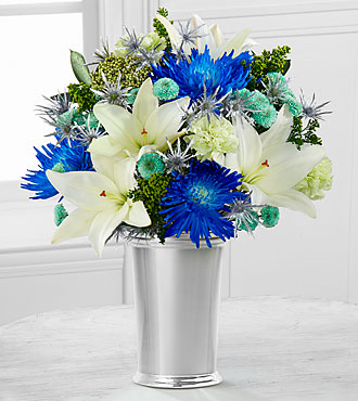 Starry Nights Holiday Bouquet - SILVER VASE INCLUDED