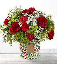 Tis the Season Mixed Holiday Bouquet - VASE INCLUDED