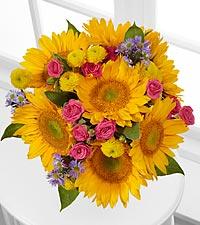 Dazzling Days Sunflower Bouquet - No Vase