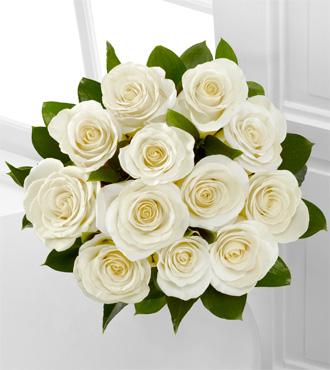 Floral Jewels™ April White Topaz Birthstone Bouquet - 12 Stems, No Vase