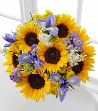 Meant to Shine Sunflower & Iris Bouquet - No Vase