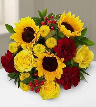 Harvest Celebrations Mixed Fall Flower Bouquet - No Vase