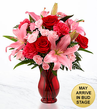 Hearts Emotions Bouquet - VASE INCLUDED