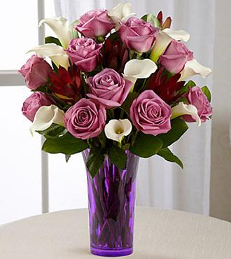 Lavender Beauty Bouquet - LAVENDER VASE INCLUDED