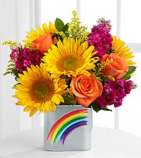 TheFTD® Pick Me Up® Rainbow Magic Bouquet - VASE INCLUDED