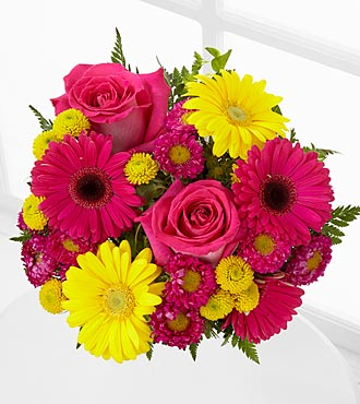 Let Me See You Smile Mixed Flower Bouquet - No Vase