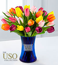 National Treasure Tulip Bouquet - 25 Stems - VASE INCLUDED
