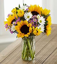 Sunflower Fields Grande Bouquet - 1 Grande Jar Included