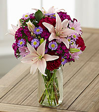 Pretty in Pink and Purple Grande Bouquet - 1 Grande Jar Included