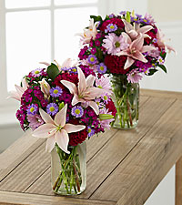 Pretty in Pink and Purple Grande Bouquet Duo - 2 Grande Jars Included