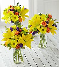 Brightest Days Petite Bouquet Trio - 3 Petite Jars Included