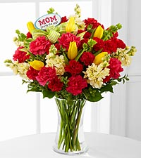 Best Mom Ever Mother's Day Bouquet - 29 Stems - VASE INCLUDED