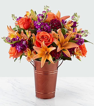Finding Fall Harvest Bouquet - VASE INCLUDED