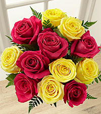 Pink Lemonade Rose Bouquet - 12 Stems - No Vase