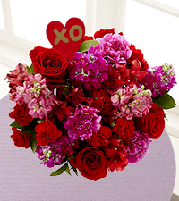 Heart of Hearts Valentine's Day Bouquet - Heart Pick Included & No Vase