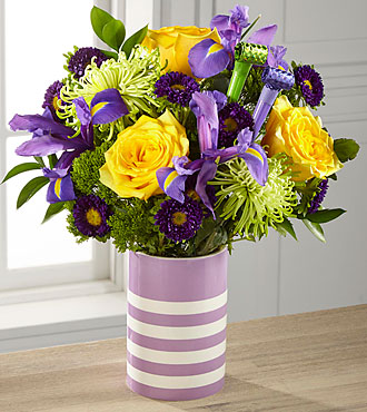 Party in Purple Birthday Bouquet- PICK & VASE INCLUDED