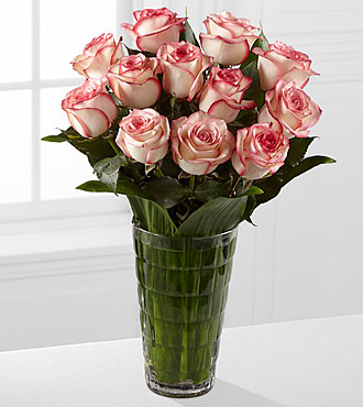 Elite™ Surprises Rose Bouquet - 12 Stems of 18-inch Roses - VASE INCLUDED