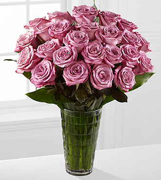 Elite™ Elegance Rose Bouquet - 24 Stems of 18-inch Roses - VASE INCLUDED