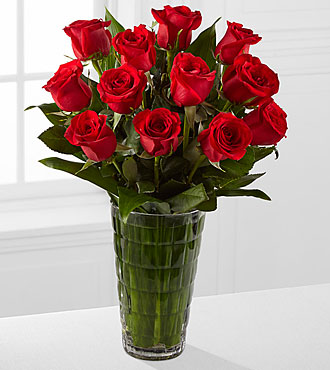 Elite™ Emotion Rose Bouquet - 12 Stems of 18-inch Roses - VASE INCLUDED
