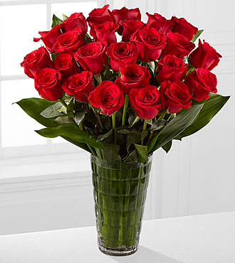 Elite™ Emotion Rose Bouquet - 24 Stems of 18-inch Roses - VASE INCLUDED