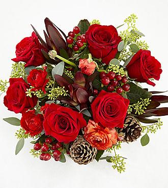 Season of Love Holiday Bouquet - No Vase
