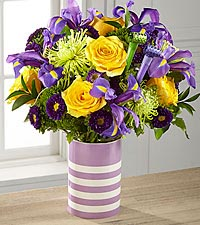 Party in Purple Birthday Bouquet - VASE INCLUDED