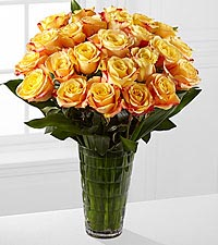 Elite™ Optimism Rose Bouquet -18-inch Roses