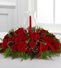 Rubied Radiance Holiday Centerpiece