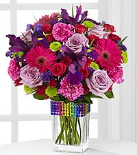 The FTD® Pick Me Up® Show Your Colors Bouquet