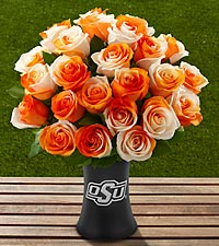 The FTD® Oklahoma State University® Cowboys™ Rose Bouquet - VASE INCLUDED