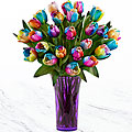 Color Burst Rainbow Tulip Bouquet