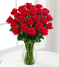 Red 18 Long Stem Roses - VASE INCLUDED