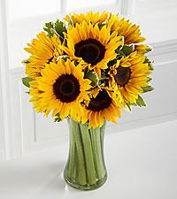 Let the Sunshine In Fall Sunflower Bouquet