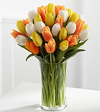 The Heat is On Tulip Bouquet - VASE INCLUDED