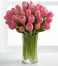 Pink Prelude Tulip Bouquet - VASE INCLUDED