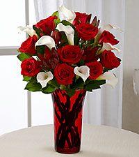 Memorable Moments Bouquet - RED VASE INCLUDED