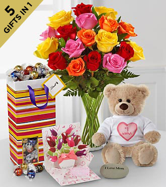 Heartfelt Hugs Ultimate Gift - VASE INCLUDED