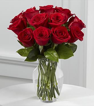 True Love Valentine Rose Bouquet - One Dozen Red Roses