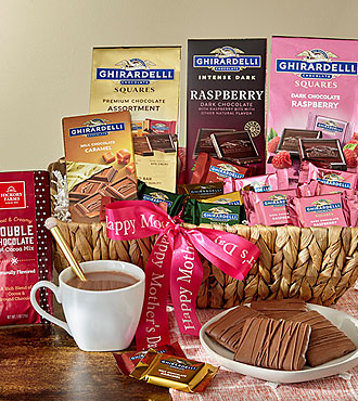 Ghirardelli Pink Rose Kosher Gift Basket