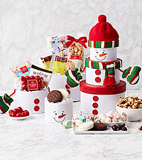 Sweet Snowman Tower of Treats