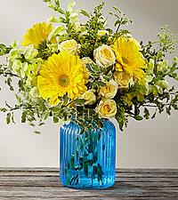 BouquetSomething Blue™ par FTD® – VASE INCLUS