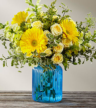 The FTD® Something Blue™ Bouquet by Better Homes and Gardens®- VASE INCLUDED
