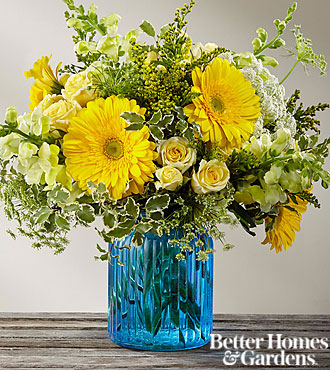 Bouquet Something Blue™ par FTD® - VASE INCLUS