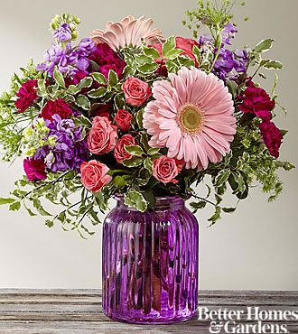 The FTD® Purple Prose™ Bouquet by Better Homes and Gardens® - VASE INCLUDED