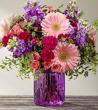 Bouquet Purple Prose™ par FTD® - VASE INCLUS