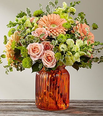 Bouquet Peachy Keen™ par FTD® – VASE INCLUS