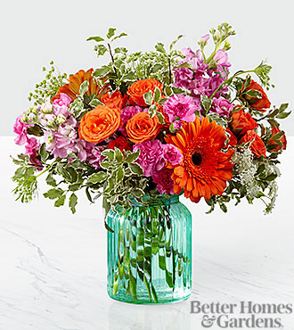 The FTD® Aqua Escape™ Bouquet by Better Homes and Gardens® - VASE INCLUDED
